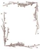 Ein silbriger Rahmen für Weihnachtskarte Lizenzfreie Stockbilder