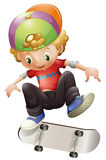 Ein Skateboard fahren des jungen Mannes Stockfotos