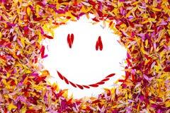 Ein smiley innerhalb der Blumenblätter Stockfoto