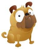 Ein Smirking Pug-Hund lizenzfreie abbildung