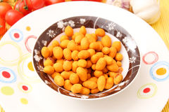 Ein Snack von Erdnüssen Stockfotografie