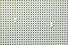 Ein Sockel unter dem Prozessor des Computers, Löcher unter den Füßen der Kontakte Elektronisches Brett mit elektrischem stockfoto
