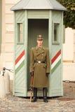 Ein Soldat in Budapest, Ungarn Stockfotografie