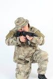 Ein Soldatzielen Stockfotografie