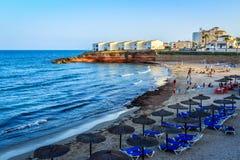 Ein Sommertag auf dem Strand lizenzfreies stockbild
