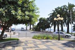 Ein Sommertag auf Promenade des Anglais in Nizza, Frankreich stockbilder