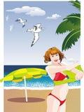 Ein Sommertag auf Strand Lizenzfreie Stockfotografie