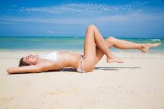 Ein Sonnenbad nehmen Lizenzfreie Stockfotografie