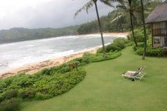 Ein Sonnenbad nehmen in Kauai Lizenzfreies Stockfoto