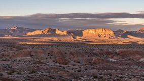 Ein Sonnenuntergang am See Mead National Recreation Area in Nevada stockfoto