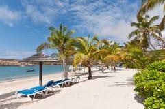 Ein sonniger karibischer Strand Lizenzfreie Stockbilder