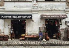 Ein Souvenirladen in der historischen Stadt von Vigan lizenzfreie stockfotos