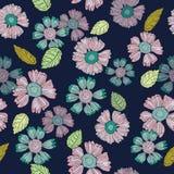 Ein Spaß-Blumenwiederholungs-Druck-Muster im Vektor lizenzfreie abbildung