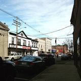 Ein Spaziergang in Keyport NJ Stockbilder