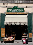 Ein Speicher der typischen Tuscanian Nahrung und der Produkte Stockfoto