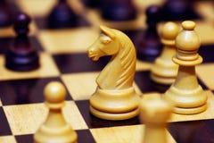 Ein Spiel des Schachs lizenzfreies stockbild