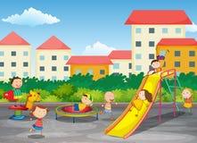 Ein Spielplatz lizenzfreie abbildung