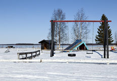 Ein Spielplatz Stockbild