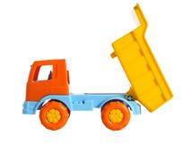 Ein Spielzeugkipper mit angehobenem Körper Lizenzfreies Stockfoto