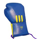 ein Sport blaues acessory für Boxer, getrennt Stockfotos