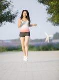 Ein sportliches Mädchen Stockbild
