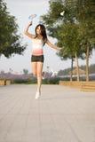 Ein sportliches Mädchen Stockfotos