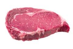 Ein Stück der Fleischrindfleischseite Stockfotos