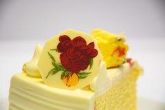 Ein Stück des Kuchens Stockbild