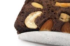 Ein Stück des Schokoladenkuchens Stockbilder