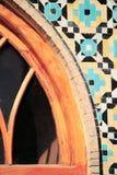 Ein Stück des verzierten Fensters, der Iran Stockfotografie