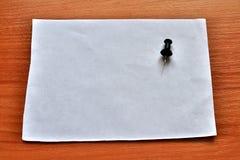 Ein Stück einer Büroklammer stockfoto