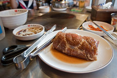 Ein Stück frisches Rindfleisch für Grill Stockfoto