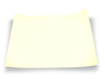 Ein Stück gelbes Papier Stockfotos