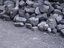 Ein Stück Kohle stockfoto