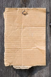 Ein Stück Pappe stockbild