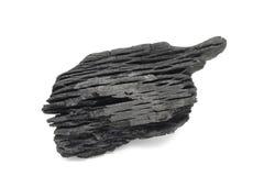 Ein Stück schwarze Holzkohle Lizenzfreie Stockbilder