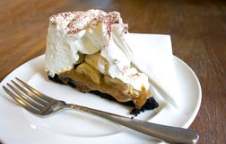 Banoffee Kuchen Stockbild