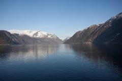Ein Stück von Hardanger Fjord Stockbilder