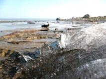 Ein Stückchen geschmolzenes Eis Lizenzfreies Stockfoto
