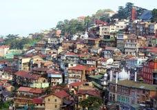 Ein Stadtbild im Himalaja Stockbild