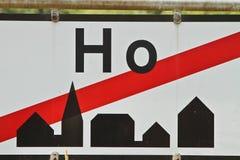 Ein Stadtzeichen zur Stadt Ho in Dänemark Lizenzfreie Stockbilder