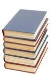 Ein Stapel alte Bücher lokalisiert auf Weiß Lizenzfreies Stockfoto
