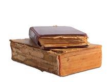 Ein Stapel alte Bücher mit Golddem stempeln Lizenzfreie Stockbilder