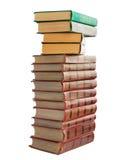 Ein Stapel alte Bücher mit Golddem stempeln Stockfotos