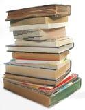 Ein Stapel alte Weinlese und moderne Bücher Lizenzfreies Stockfoto