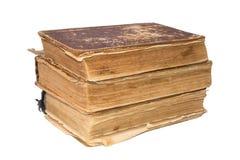 Ein Stapel alte zerlumpte Bücher Weinlese heftige Bücher Antiquitäten lokalisiert Stockfoto