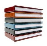 Ein Stapel Anmerkungsbücher Stockbild