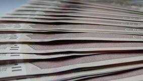 Ein Stapel Banknoten Rubel Stockbilder