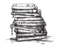 Ein Stapel der Bücher Stockbild