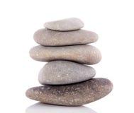 Ein Stapel der grauen Steine Stockfotos
